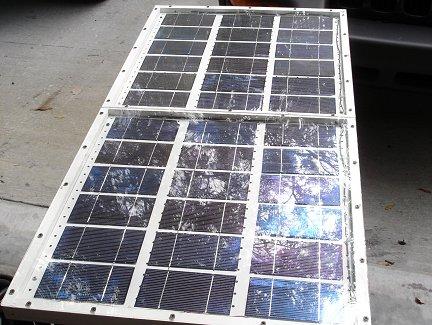 Вот так выглядит окончательная версия солнечной батареи с установленным экраном