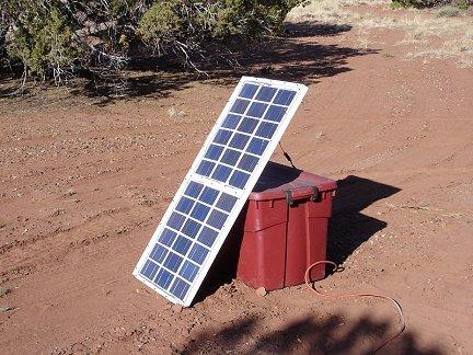 Солнечная батарея в рабочих условиях