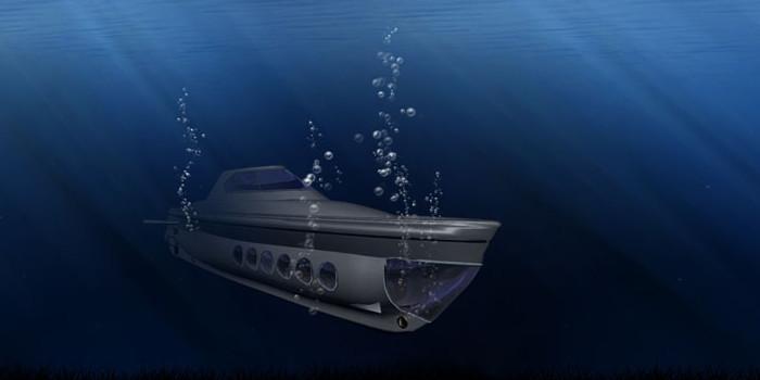 Военная подводная лодка на фотоэлектрических панелях