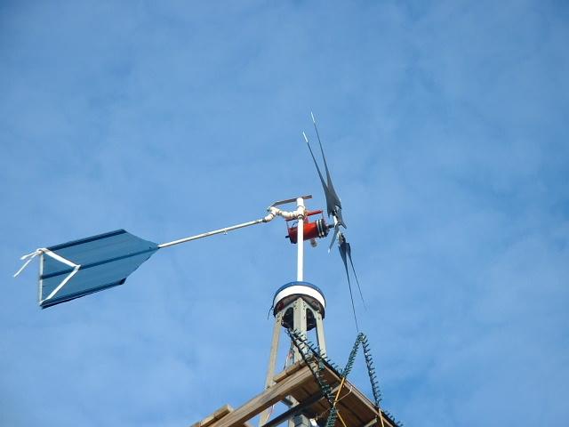 Ветрогенератор в действии